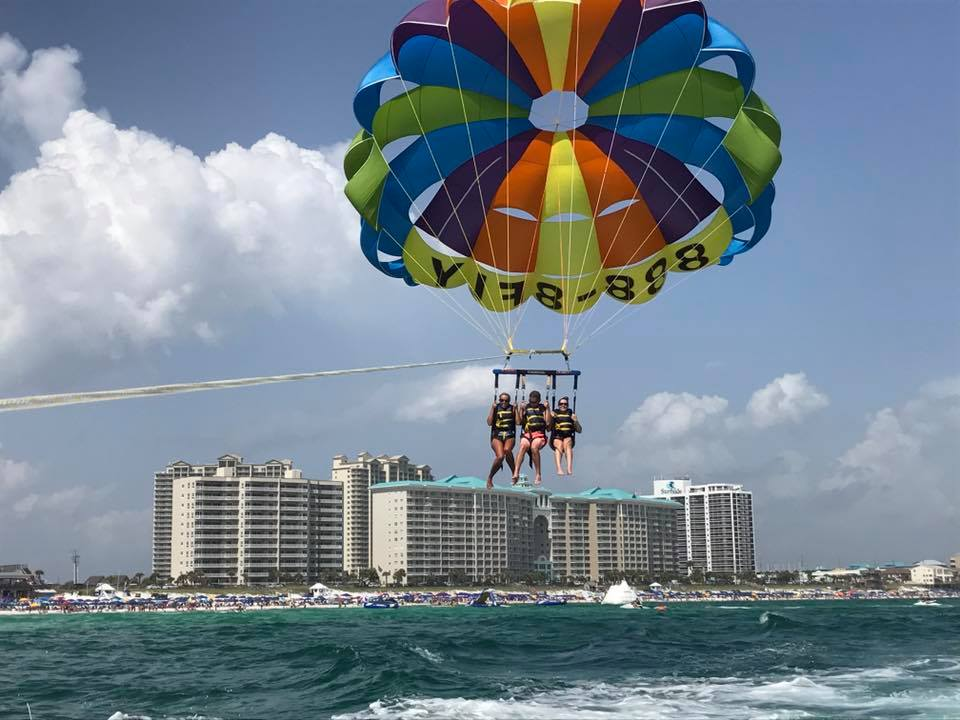 Captain Jambo's Destin Parasailing near our vacation rentals