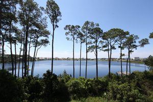 Beautiful view of a coastal lake. We have vacation rentals nearby.