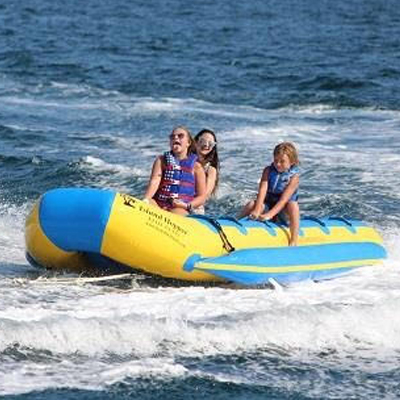 Destin Banana Boat Rides with FWB Parasail near our vacation rentals