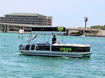 Destin X Double Decker Pontoon Rental – Departing from Destin Harbor near our vacation rentals