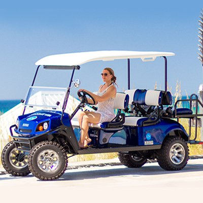 Street Legal Golf Cart Rentals from La Dolce Vita near our vacation rentals