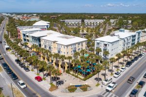 An aerial view of Gulf Place FLA