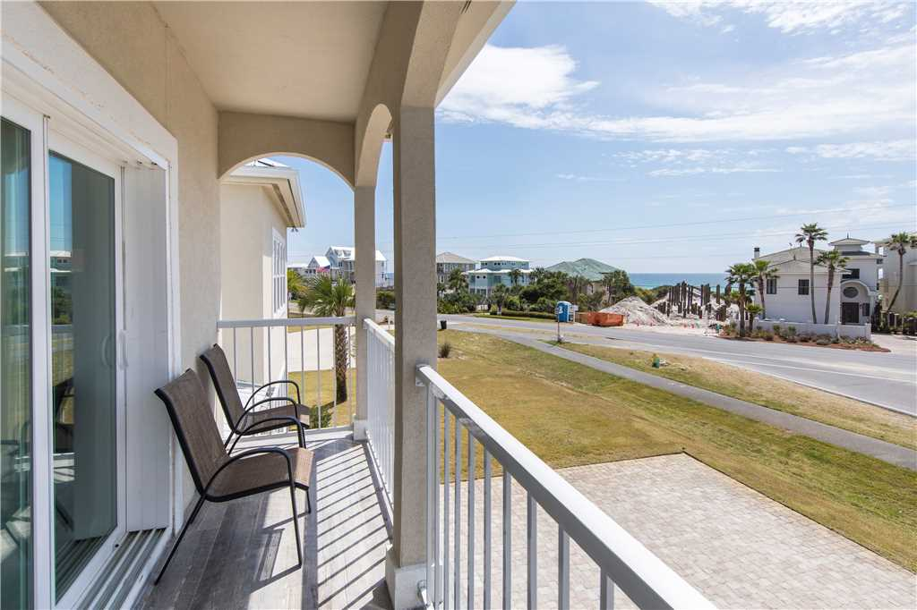 This Santa Rosa Beach vacation home has a view of the water and is close to beach access.