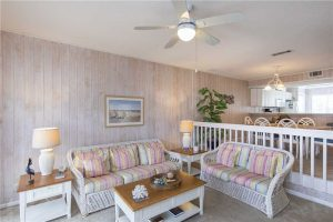 An interior view of this 30A vacation rental.