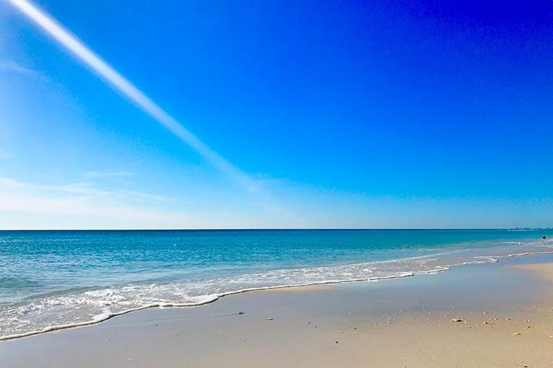 The beach in Santa Rosa Beach, FL