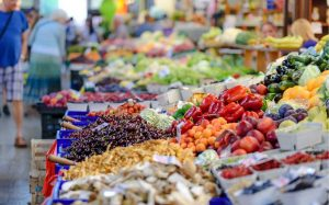 Fruits and veggies for sale in 30A Florida